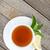 緑茶 · レモン · ミント · 木製のテーブル · 表 · 緑 - ストックフォト © karandaev