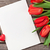 red tulips blank card and candy hearts stock photo © karandaev
