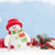 christmas background with snowman and decor stock photo © karandaev