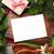 christmas greeting card over cooking table and utensils stock photo © karandaev