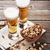 bière · collations · table · en · bois · noix · puces - photo stock © karandaev