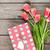 tulipanes · flores · caja · de · regalo · mujeres · diseno - foto stock © karandaev