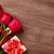 red roses and valentines day gift stock photo © karandaev