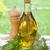 オリーブオイル · ボトル · 唐辛子 · シェーカー · バジル · 木製のテーブル - ストックフォト © karandaev