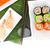 sushi · somon · karides · yalıtılmış · beyaz · balık - stok fotoğraf © karandaev