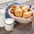 heerlijk · ontbijt · vers · croissants · rijp · bessen - stockfoto © karandaev