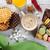 karamel · hout · houten · voedsel · achtergrond · tabel - stockfoto © karandaev