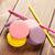 красочный · macaron · Cookies · изолированный · белый · торт - Сток-фото © karandaev