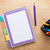 színes · ceruzák · iroda · jegyzettömb · izolált · fehér - stock fotó © karandaev