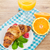 croissant · frambozen · bramen · glas · sinaasappelsap · vers - stockfoto © karandaev