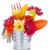 coloré · fleurs · jardin · outils · table · en · bois · isolé - photo stock © karandaev