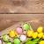 Пасху · желтый · тюльпаны · красочный · яйца · шкатулке - Сток-фото © karandaev
