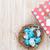 húsvét · kék · fehér · tojások · fészek · ajándék · doboz - stock fotó © karandaev