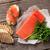 sanduíche · brinde · salmão · cozinhar · topo - foto stock © karandaev
