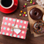 las · tazas · de · café · blanco · mesa · de · madera · superior · vista - foto stock © karandaev