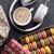 kleurrijk · geschenkdoos · hoofdtelefoon · steen · tabel · zoete - stockfoto © karandaev