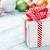 karácsony · ajándék · doboz · színes · dekoráció · fa · asztal · fa - stock fotó © karandaev