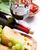 vino · tinto · vidrio · botella · queso · uvas · aislado - foto stock © karandaev