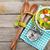 Rood · meetlint · witte · water · voedsel · appel - stockfoto © karandaev