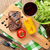 гриль · бифштекс · продовольствие · ресторан · обеда · растительное - Сток-фото © karandaev