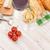 branco · vinho · tinto · queijo · pão · mesa · de · madeira · topo - foto stock © karandaev