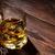whiskey · verre · bois · plateau · sombre · glace - photo stock © karandaev