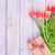 colorful tulips and gift box on wooden table stock photo © karandaev