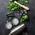 mojito · coquetel · ingredientes · utensílios · preto · borracha - foto stock © karandaev