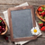 blackboard for your text and berries stock photo © karandaev