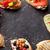 鮭 · アボカド · サルサ · 焼き · トマト - ストックフォト © karandaev