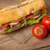 sandwich with salad ham cheese and tomatoes stock photo © karandaev
