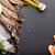 friss · nyers · tenger · étel · fűszer · fekete - stock fotó © karandaev