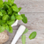 fresh mint in mortar stock photo © karandaev