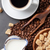 koffie · suiker · bonen · bruin · boven - stockfoto © karandaev