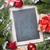 Navidad · pizarra · decoración · caja · de · regalo · mesa · de · madera - foto stock © karandaev