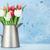 colorido · ramo · flores · blanco · jarra · turquesa - foto stock © karandaev