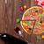 İtalyan · pizza · pepperoni · domates · zeytin · fesleğen - stok fotoğraf © karandaev
