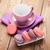 colorful macaron cookies and coffee cup stock photo © karandaev