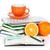 naranja · frutas · taza · de · café · aislado · blanco - foto stock © karandaev