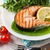 grilled salmon and whtie wine stock photo © karandaev