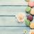 kleurrijk · zoete · macarons · bloemen · steen · tabel - stockfoto © karandaev
