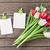 kolorowy · tulipany · Fotografia · ramki · dwa - zdjęcia stock © karandaev