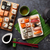 tè · verde · sushi · maki · set · bambù · tavola - foto d'archivio © karandaev