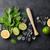 ingredientes · mojito · tabela · estoque · foto · coquetel - foto stock © karandaev