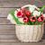 kolorowy · tulipany · bukiet · koszyka · ściany - zdjęcia stock © karandaev