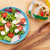 Fresh healthy salad with tomatoes and mozzarella stock photo © karandaev
