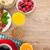 healty breakfast with muesli berries orange juice coffee and stock photo © karandaev