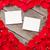 gift · card · czerwona · róża · płatki · biały · bed · gotowy - zdjęcia stock © karandaev