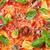 pizza with tomatoes mozzarella and basil stock photo © karandaev