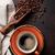 чашку · кофе · кофе · ложку · полный · кофе · белый - Сток-фото © karandaev